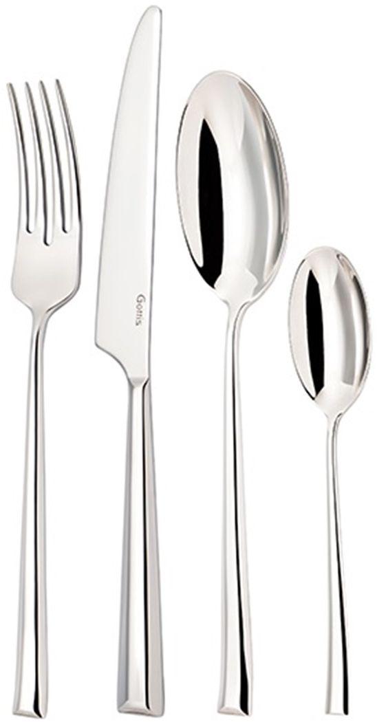Набор столовых приборов Gottis Chili, 24 предмета09/2409/24 коллекция Chili (6персон/24предмета). Дизайн приборов, полностью отвечающий европейским тенденциям, позволяет подобрать коллекцию под любой интерьер. Выполнены из высококачественной европейской нержавеющей стали 18/10. Ручная полировка всех граней прибора, в том числе и между зубцами вилки, придает зеркальный блеск и эстетичный внешний вид. Немецкая технология горячей закалки и заточки лезвия ножей.