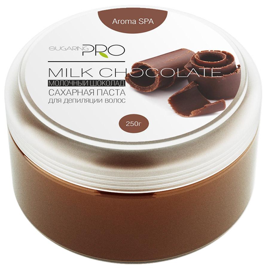 Sugaring Pro Сахарная паста Молочный шоколад средняя плотность, 250 гУТ000008525Шоколадная ароматерапия ускоряет выработку секреторного иммуноглобулина А, который необходим для противовирусной и противогрибковой защиты, а также расслабит и успокоит во время процедуры.Универсальнаясахарная паста предназначена для депиляции всех типов волос (шугаринга) на любом участке кожи. При удалении волос не травмирует живые клетки кожи. Гипоаллергена. Не вызывает раздражения. Эффекта хватает на 3 – 4 недели.Инструкция по применению: Из центра банки щипком взять пасту размером с грецкий орех и провести процедуру депиляции.Основные ингредиенты: фруктоза, глюкоза, вода.Постэпиляционный уход: Избегайте использования душистых увлажняющих кремов на обработанных участка, дезодорантов первые 24 часа после процедуры. Дезодорант можно заменить на тальк. Избегайте длительного пребывания на солнце или в солярии. Желательно отказаться от посещения сауны и бассейна в первые 24 часа. Примечание: Продукт хранить в прохладном и сухом месте. Только для наружного применения. Гарантия качества: Товар сертифицирован. Прошел дерматологический контроль.