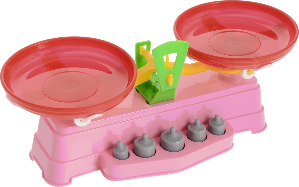 Poltoys Игрушечные Весы цвет розовый машины игрушечные детские