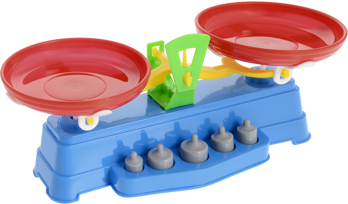 Poltoys Игрушечные весы цвет синий машины игрушечные детские
