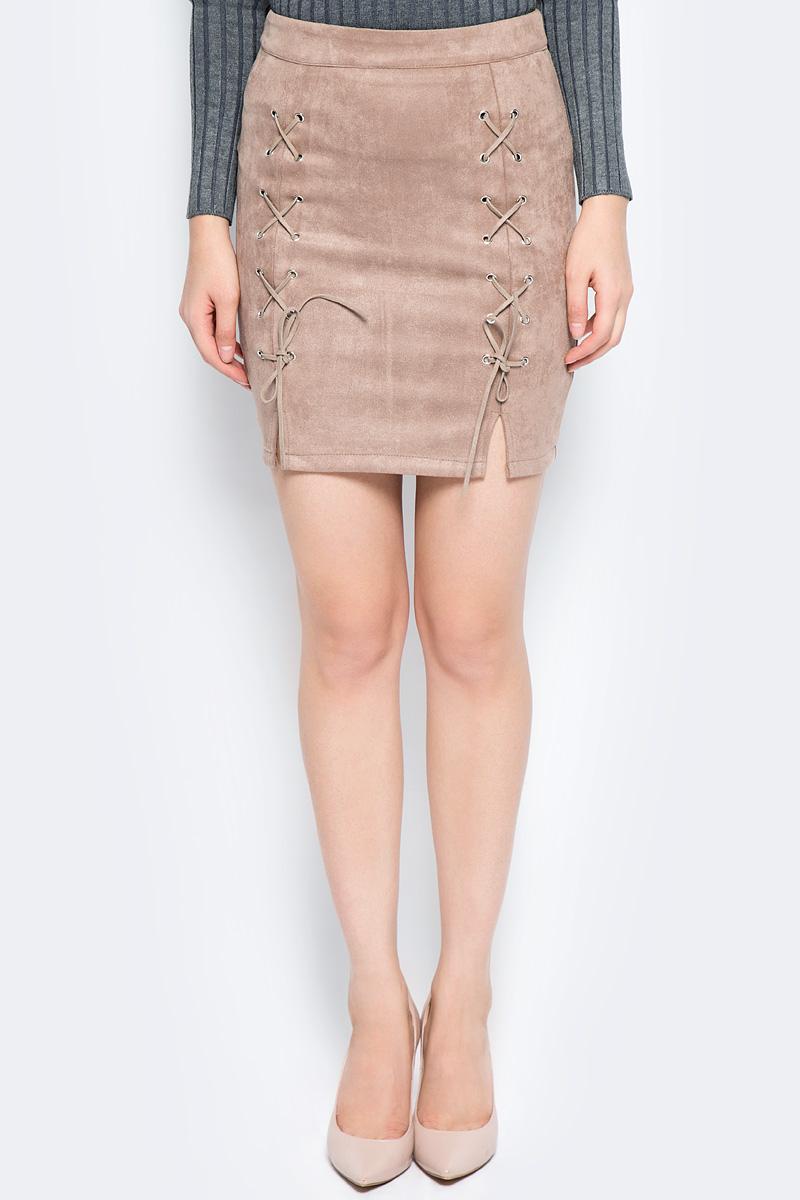 Юбка Bello Belicci, цвет: коричневый. UA6_15. Размер M (44) рубашка женская bello belicci цвет белый sa9 12 размер xxl 50