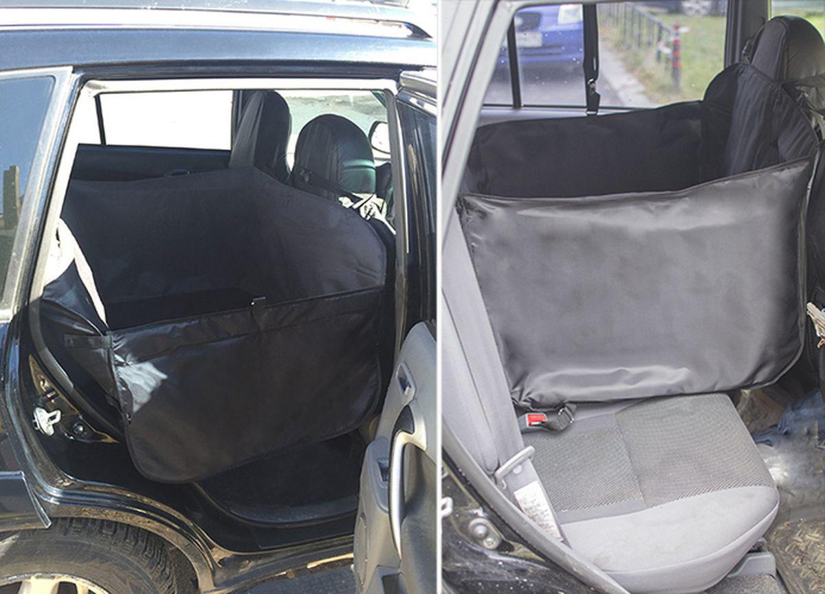 Автогамак для перевозки крупных собак суперусиленный Auto Premium. 7704477044Суперусиленный гамак на 2/3 сидения изготовлен из специальной водонипроницаемой ткани (ПВХ 600), дополнительно усилен 3-м специальным непромокаемым слоем из вспененного полиэтилена.Специальная конструкция боковин + дополнительная лямка гамака позволяет защитить двери машины от загрязнения и повреждений. Для надежного крепления гамака на сидении имеется специальный крепеж в гнездо ремня безопасности. Особенность данного гамака вляется то, что после установки в салон автомобиля на заднем сидении останется место еще для одного пассажира.Такой гамак подойдет для перевозки собак любого веса и размера, легко устанавливается во все типы автомобилей, дополнительная защита для подголовников в комплекте.