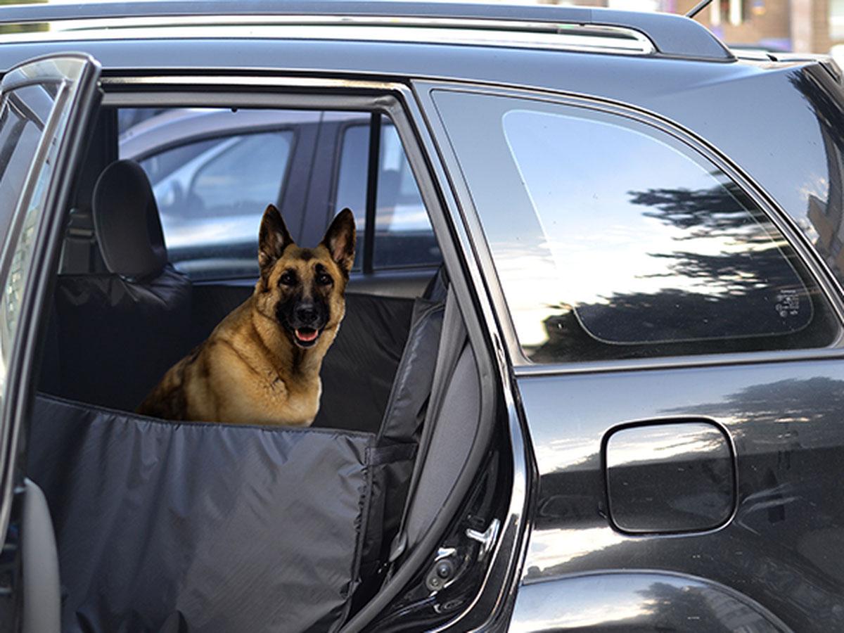 Автогамак для перевозки для курпных собак Auto Premium. 7704577045Гамак премиум изготовлен из специальной водонипроницаемой ткани (ПВХ 600) , для усиления гамака используется непромокаемый вспененный полиэтилен. Боковины для защиты дверей на молнии,что позволяет легко и быстро установить и использовать гамак. Такая конструкция позволяет предотвратить порчу и загрязнение салона автомобиля. Для дополнительной защиты в комплекте представлены 5 чехлов для подголовников, дополнительные лямки для боковин. Для наилучшего крепления гамака предусмотрены специальные крепления в гнездо ремней безопасности. Гамак может быть использован как для защиты от загрязнений и повреждений заднего сидения автомобмиля, так и для багажника. Особенностью данного гамака является то, что гамак может быть использовани как для перевозки животных, так и для перевозки вещей, которые могут повредить салон автомобиля.