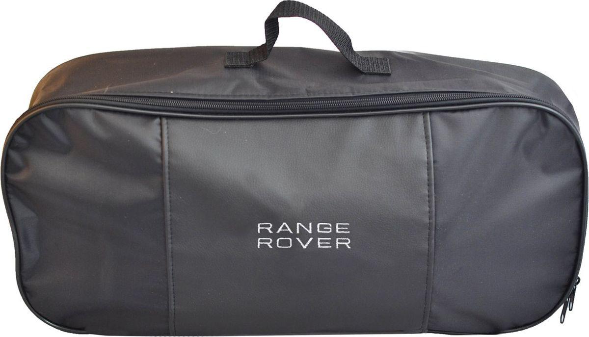 Автосумка аварийный набор Auto Premium Range Rover. 6732167321Сумка для набора техосмотра выполнена из прочного и износоустойчивого материла (ПВХ 600) со вставкой из экокожи и вышивкой. Размер сумки 47х21х13 идеально подходит для хранения огнетушителя, знака аварийной остановки, буксировочного троса и т.п.