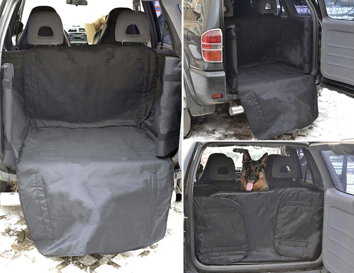 Автогамак для животных Auto Premium, в багажник, цвет: черный. 77053
