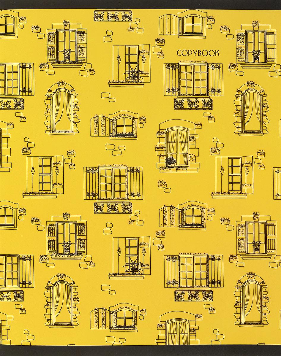 Канц-Эксмо Тетрадь Окошки 48 листов в клетку цвет желтыйТКБ485343_ромбыТетрадь для конспектов Канц-Эксмо Окошки формат А5, 48 листов в клетку. Крепление - скрепка. Обложка: мелованный картон, выборочный лак, блестки Черные. Внутренний блок: бумага офсетная 60 г/м2.