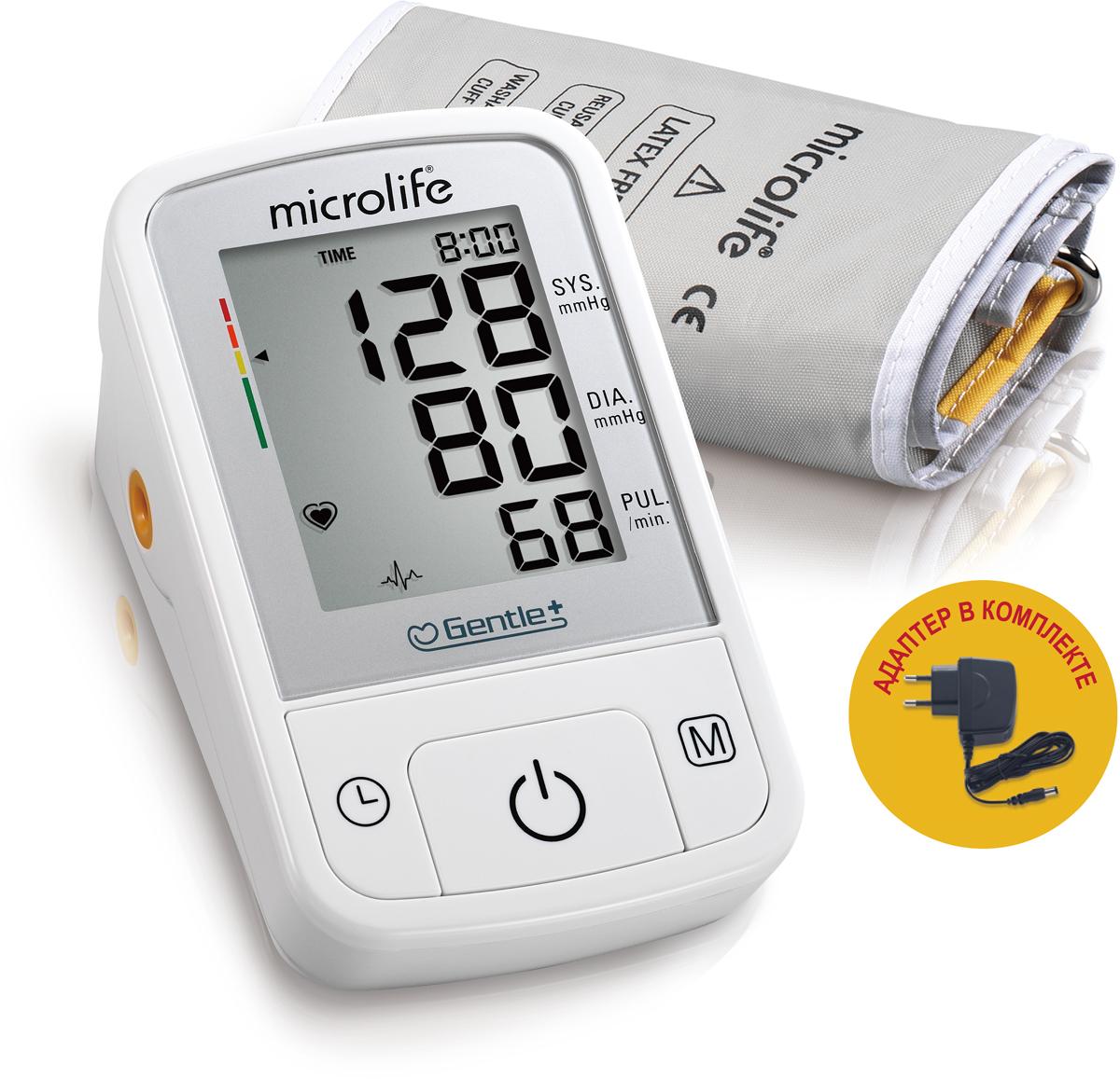 Microlife Тонометр автоматический BP A2 Basic с адаптером microlife для тонометра m size