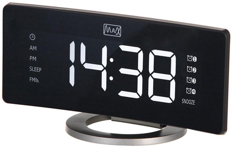 MAX CR-2915, Black Gray радиобудильник30058Радио-будильник MAX CR-2914 выполнен в оригинальном форм-факторе. Он займет достойное место на столе жилой комнаты или офиса.Данная модель имеет цифровой LED дисплей с большими цифрами белого цвета. Время на таком дисплее можно рассмотреть издалека, а яркость дисплея можно регулировать в соответствии с предпочтениями владельца.Производителем предусмотрены 4 будильника, которые можно установить на разное время. Имеется функция повтор и цифровая регулировка громкости. В качестве сигнала можно использовать как зуммер, так и радио.Встроенное FM-радио обеспечит возможность слушать любимые радиостанции, быть в курсе последних событий, не скучать. В память устройства можно внести до 20 радиостанций.