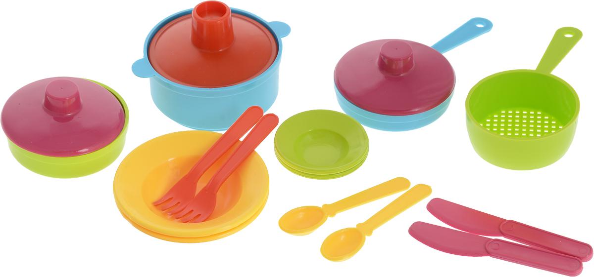 РосИгрушка Набор игрушечной посуды Щи да каша ролевые игры росигрушка набор посуды столовый рыбный день 9 деталей