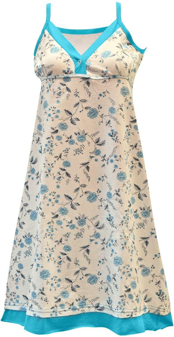 Ночная рубашка женская Коллекция, цвет: белый. ОСРН-17. Размер 54 ночная рубашка женская коллекция цвет темно синий осрн 18 размер 56