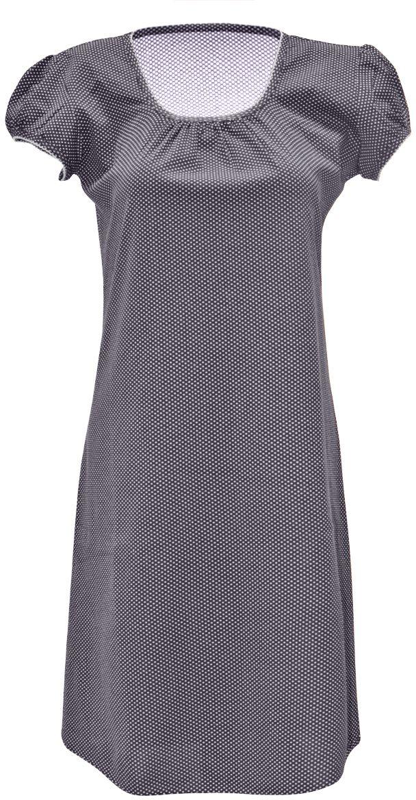 Ночная рубашка женская Коллекция, цвет: темно-синий. ОСРН-18. Размер 56ОСРН-18Ночная сорочка на тонких бретелях, трапециевидного покроя, изготовлена из кулирки в нежной освежающей расцветке, оформлена по линии груди и низу изделия оборкой с окантовочным швом. Безусловным достоинством модели является мягкое полотно из чистого хлопка - залог крепкого и спокойного сна!