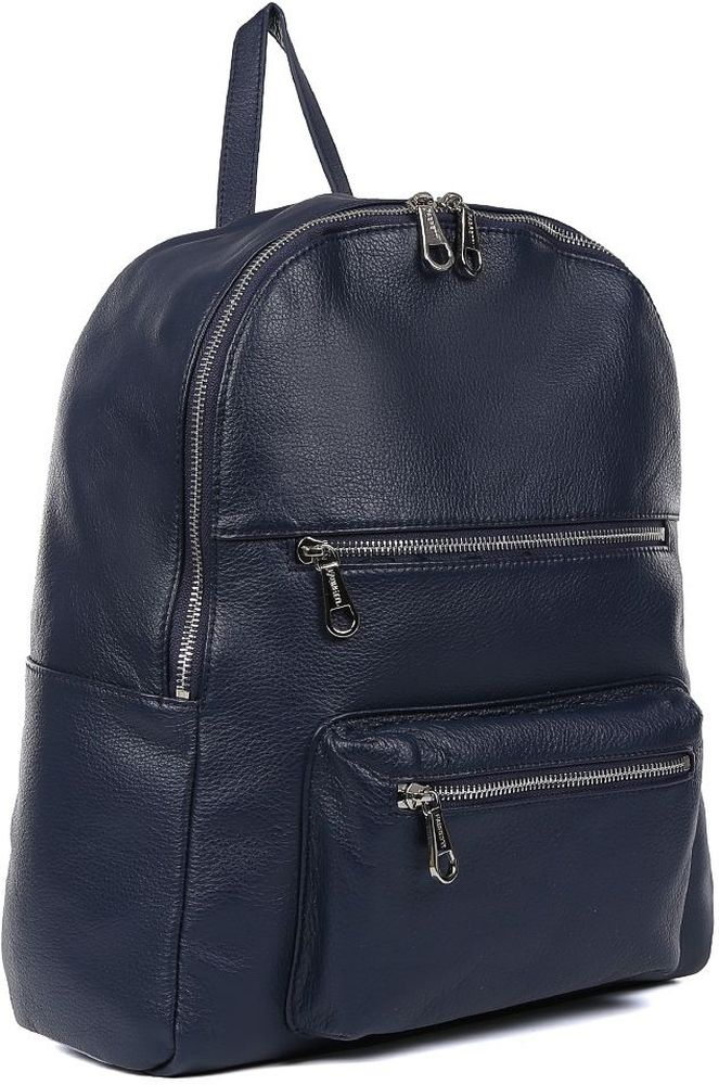 Рюкзак мужской Fabretti, цвет: синий. CSN3540CSN3540-blueВместительный мужской рюкзак от Fabretti выполнен из натуральной мягкой кожи. Рюкзак имеет одно вместительное отделение, которое закрывается на прочную молнию и удобными металлическими поводками. Внутри находятся надежные карманы для сотового телефона и прочих мелочей. На тыльной и лицевой части расположены вместительные карманы на молнии, чтобы самые нужные вещи всегда были под рукой.