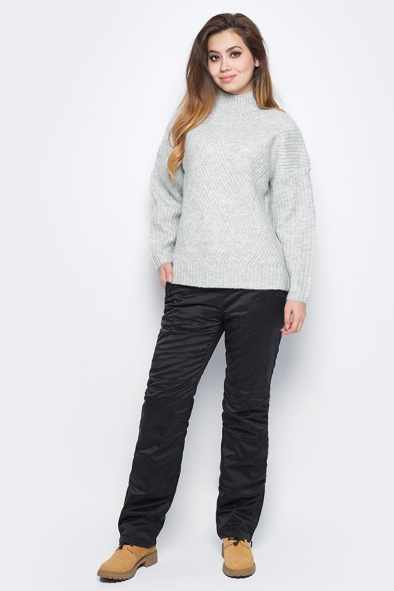 Свитер женский Baon, цвет: серый. B137552_Silver Melange. Размер M (46)B137552_Silver MelangeВязаный свитер Baon просто незаменим в холодную погоду. В состав изделия входят шерсть и мохер, которые обеспечат вам тепло и уют. Модель имеет свободный крой и воротник-стойку, рукава с заниженными проймами. Свитер связан резинкой с узором зиг-заг.