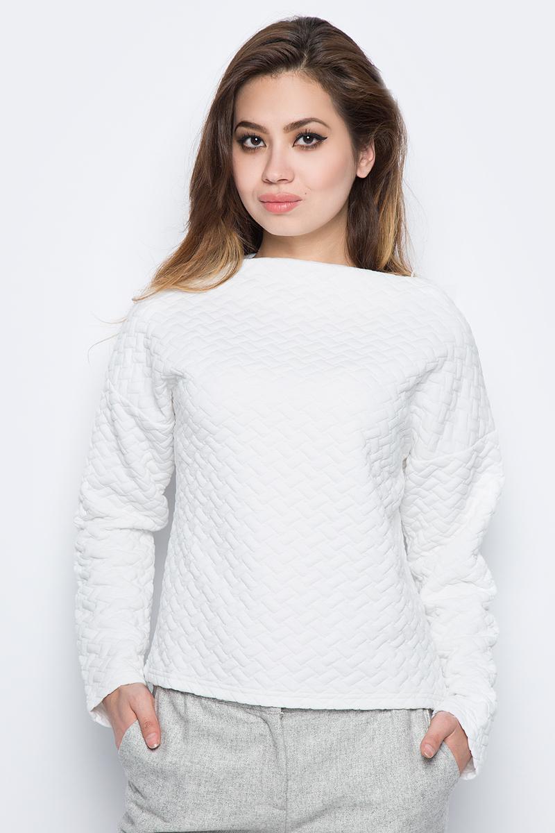 Купить Свитшот женский Baon, цвет: белый. B117504_Milk. Размер S (44)