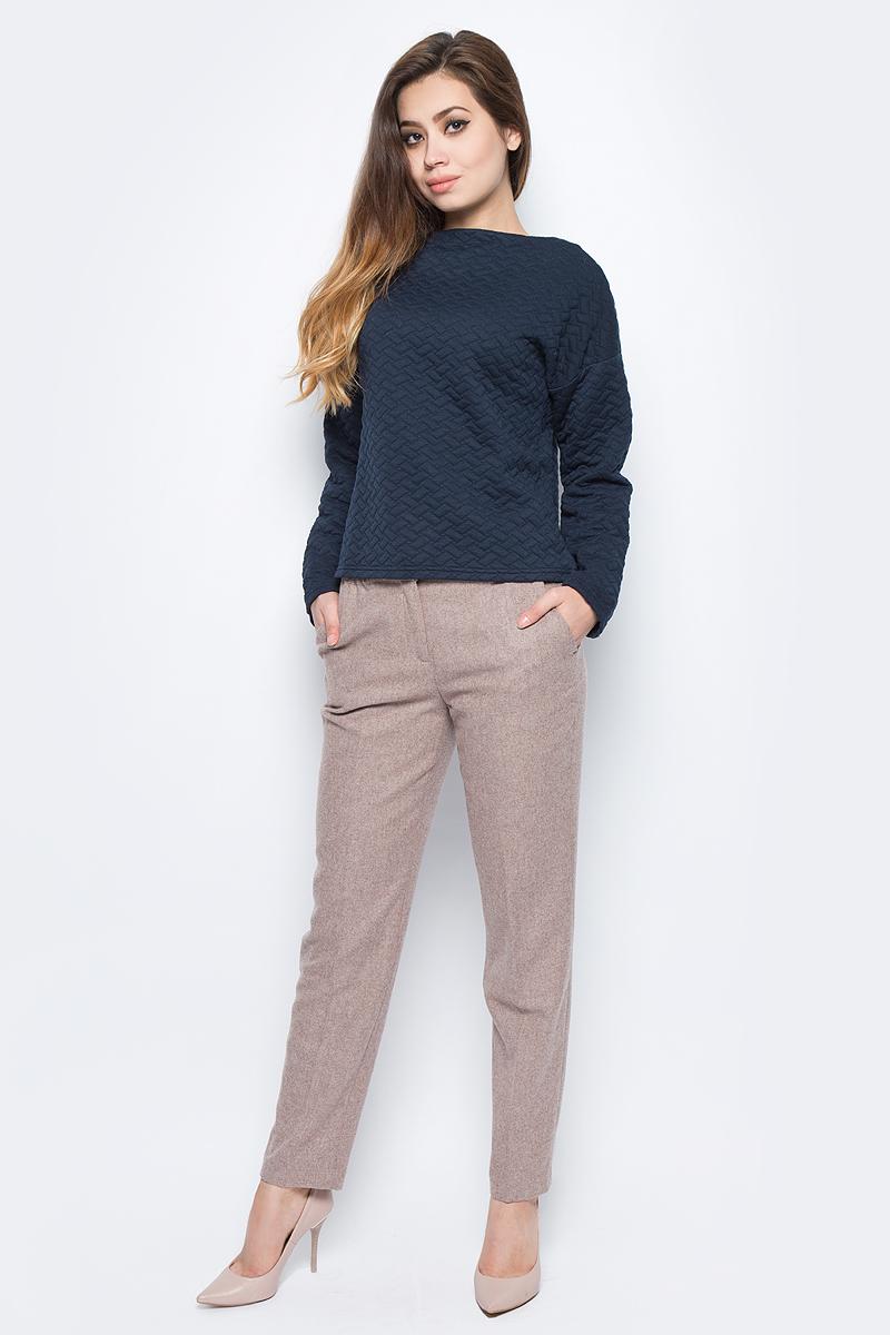 Брюки женские Baon, цвет: коричневый. B297522_Caribou Melange. Размер L (48) платье baon цвет серый b457530 silver melange размер l 48