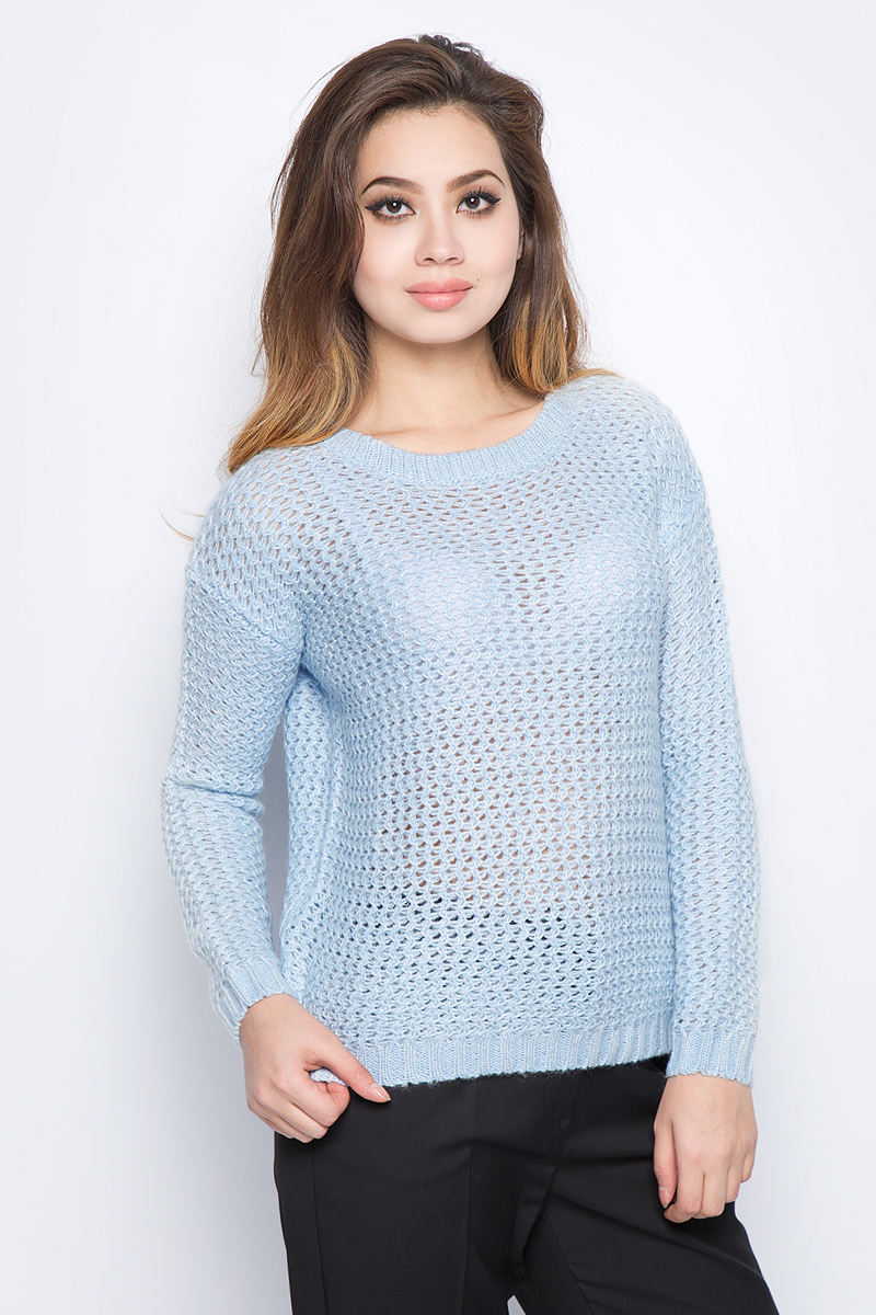 Джемпер женский Baon, цвет: голубой. B137588_Angel Blue. Размер XL (50) джемпер blue petrol джемпер