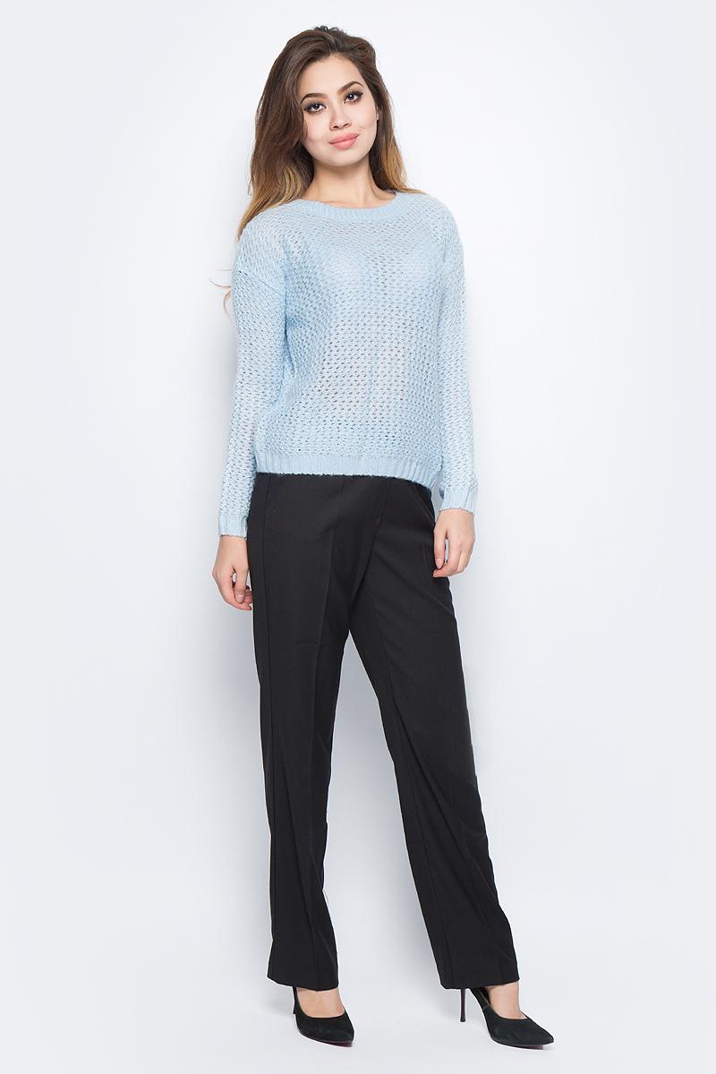 Джемпер женский Baon, цвет: голубой. B137588_Angel Blue. Размер XL (50) кардиган женский baon цвет черный b147505 black размер xl 50