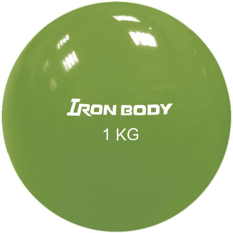 Медицинбол Iron Body 1792EG-2, цвет: зеленый, 1 кг мячи спортивные iron body медбол 2 кг