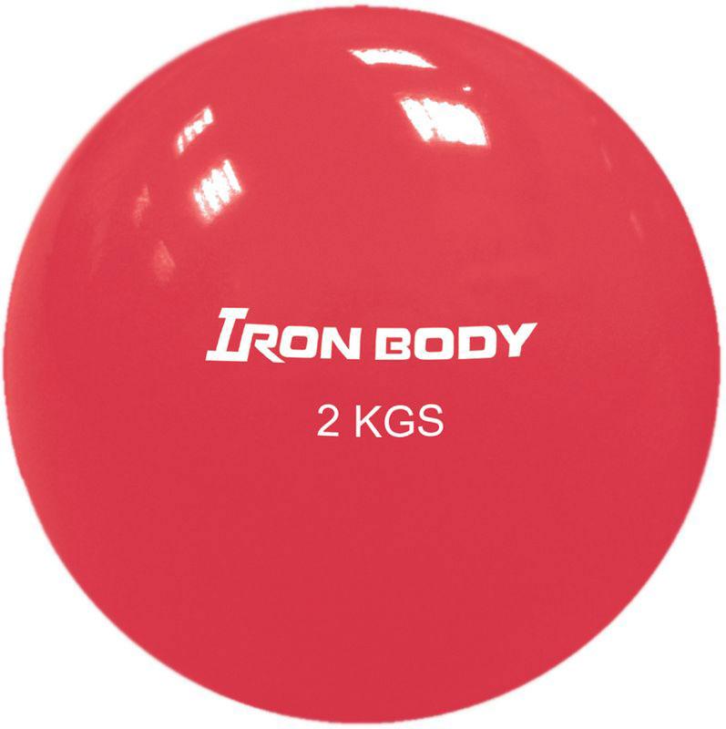 Медицинбол Iron Body 1794EG-2, цвет: красный, 2 кг мячи спортивные iron body медбол 2 кг