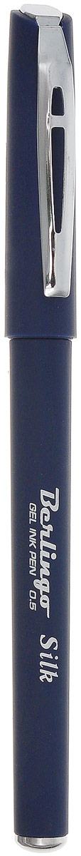 Berlingo Ручка гелевая Silk цвет чернил темно-синийCGp_50152_темно-синийГелевая ручка с колпачком и клипом. Стильный дизайн корпуса. Приятное бархатистое покрытие корпуса создает дополнительный комфорт при письме. Цвет корпуса соответствует цвету чернил. Диаметр пишущего узла - 0,5 мм. Рекомендуются стержни CSg_51022, CSg_51021.