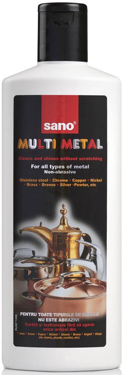 Средство для чистки металла Sano Multi Metal, 270 мл600005Multi MetalНеабразивный очиститель для всех видов металлических изделий из нержавеющей стали, серебра, хрома, меди, никеля, латуни, бронзы, итд. 270мл