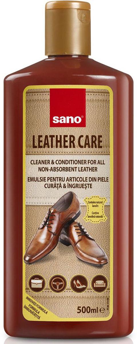 Средство для чистки кожи Sano Leather Care, 500 мл600010Leather Care Средство для чистки и уходу за изделиями из кожи.Очищает и придает блеск диванам, креслам и прочей мебели из кожи, а так же кожаной одежде, сумкам, кожаным аксессуарам и обуви. Удаляет загрязнения, смягчает и придает коже эластичность. 500мл