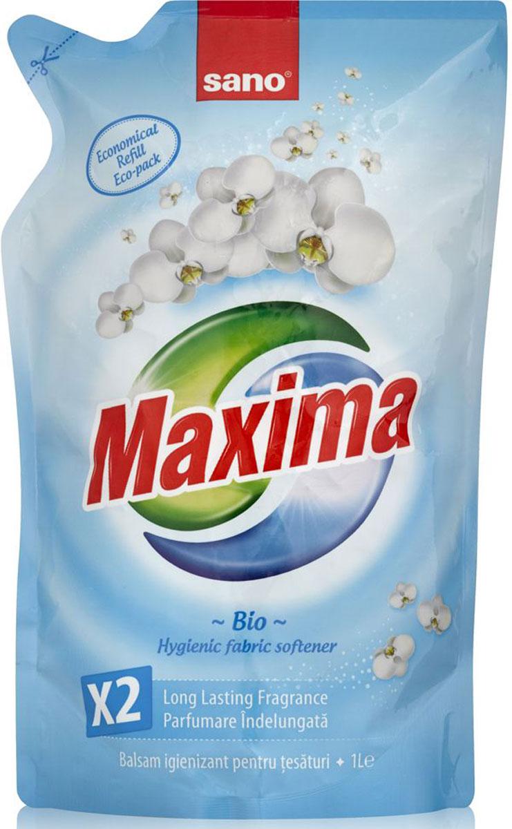 Кондиционер для белья Sano Maxima Bio, 1 л600084Гигиенический кондиционер Sano Maxima Bio для белья сочетает в себе несколько функций: смягчает ткань, ароматизирует, обладает гигиеническими свойствами, предотвращает образование статического электричества, облегчает глажку. Товар сертифицирован.