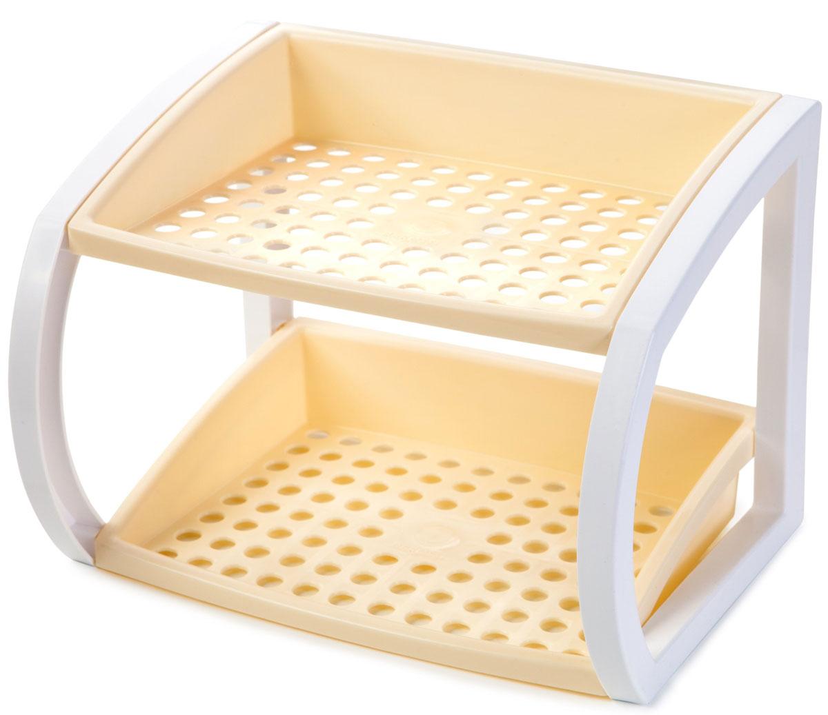 Подставка настольная Berossi Hokky, разборная, цвет: слоновая кость, 24,7 х 18,3 х 18 смИК 17533000Универсальная настольная подставка Hokky выполнена прочного пластика. Она легко собирается и имеет очень широкую сферу применения:в ванной - для хранения косметических принадлежностей; на кухне - можно поставить подставку для специй, сахарницу, емкость с печеньем; в прихожей - использовать под средства для ухода за обувью и сложенные зонты; возле столика для новорожденного - удобно разместить под рукой все детские кремы, присыпки, бутылочки и соски; для хранения канцелярских принадлежностей в любом удобном месте.