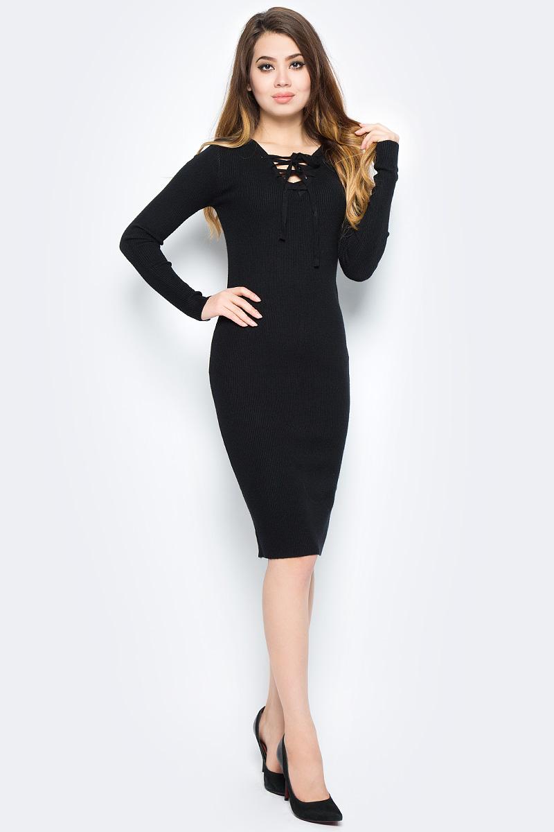 Платье Bello Belicci, цвет: черный. DLA21_7. Размер S/M (42/46)DLA21_7