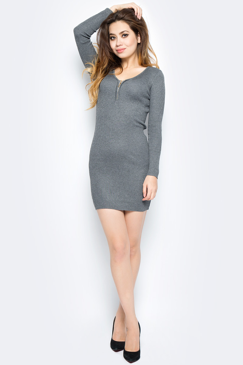 Платье Bello Belicci, цвет: серый. DLA2_2. Размер S/M (42/46) рубашки bello belicci рубашка