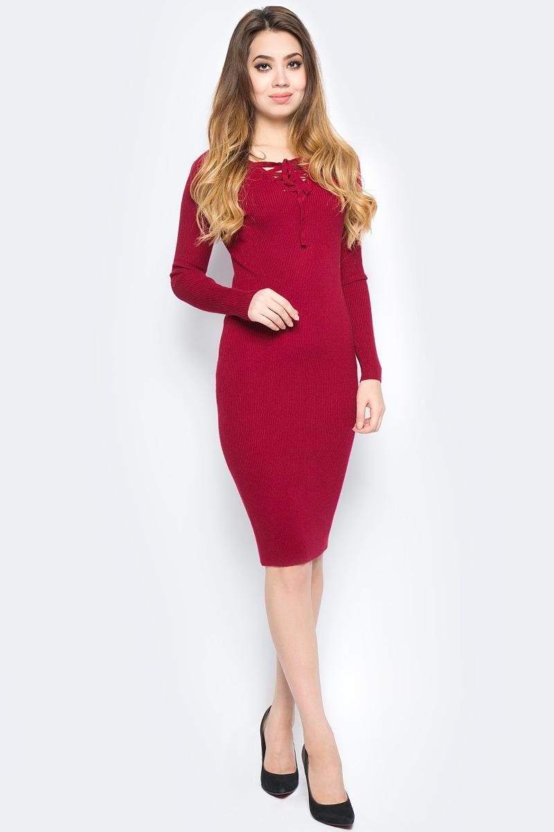 Платье Bello Belicci, цвет: бордовый. DLA21_10. Размер S/M (42/46)DLA21_10