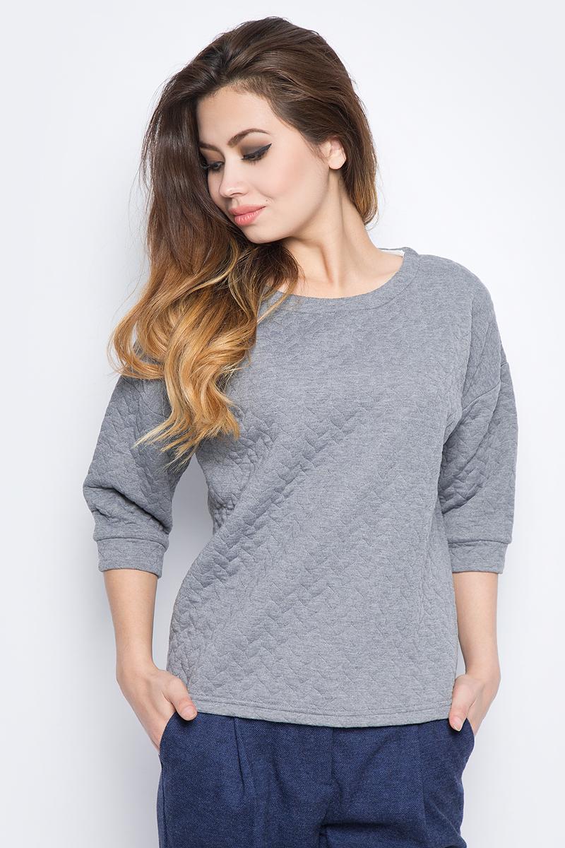 Купить Свитшот женский Baon, цвет: серый. B117503_Zircon Melange. Размер S (44)