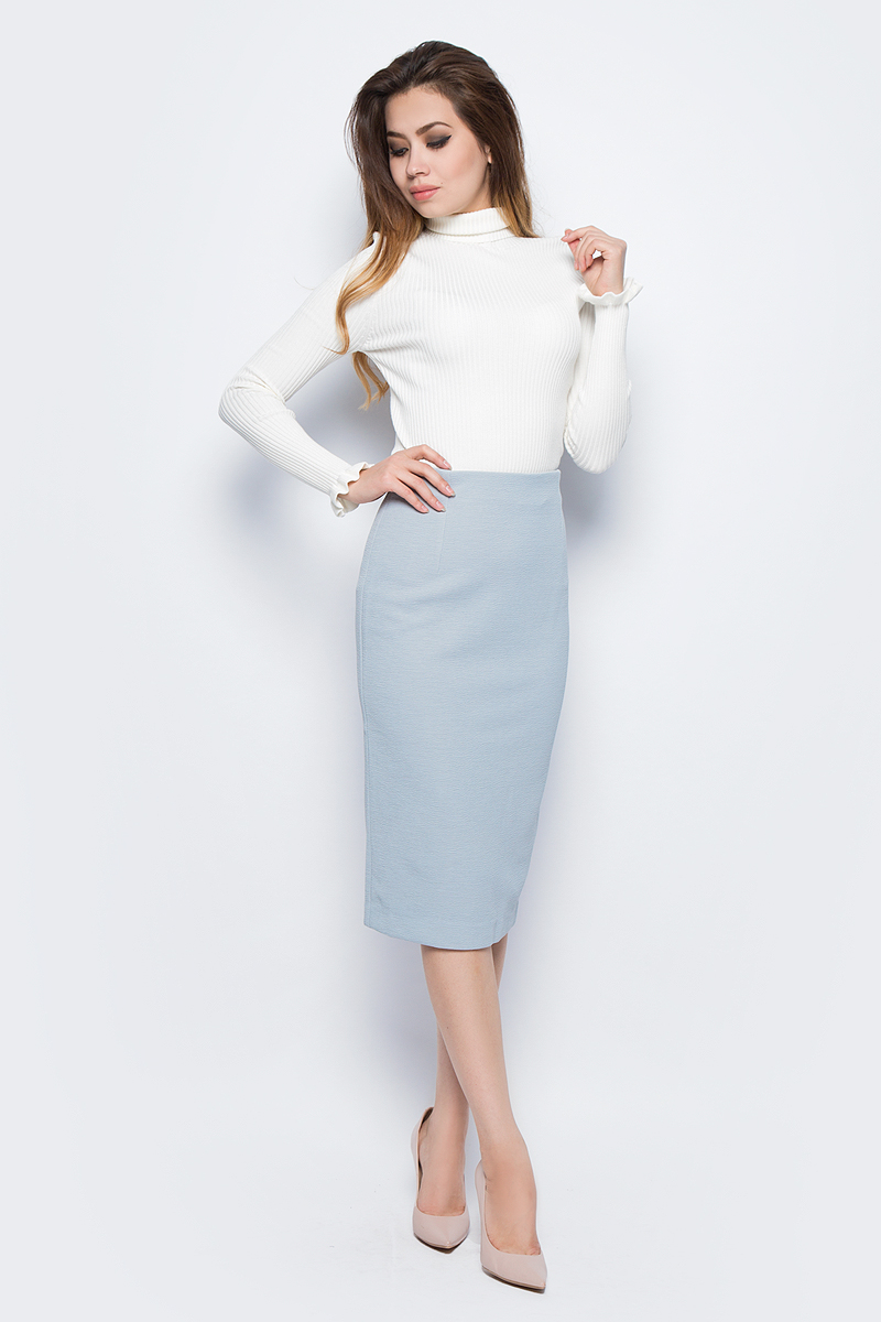 Юбка женская Baon, цвет: серый. B477520_Smoky. Размер M (46)B477520_Smoky