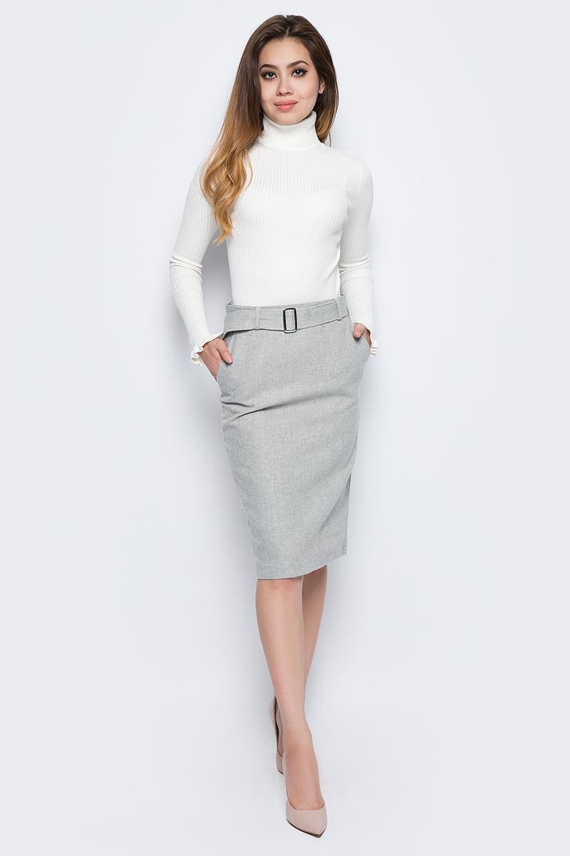 Юбка Baon, цвет: серый. B477513_Silver Melange. Размер L (48) платье baon цвет серый b457530 silver melange размер l 48