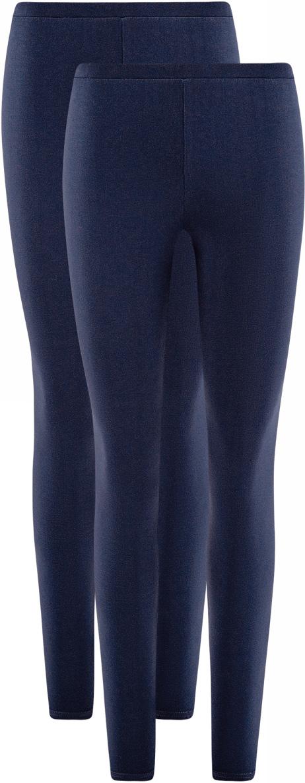 Леггинсы женские oodji Ultra, цвет: темно-синий, 2 шт. 18700028T2/46159/7900N. Размер XXS (40)