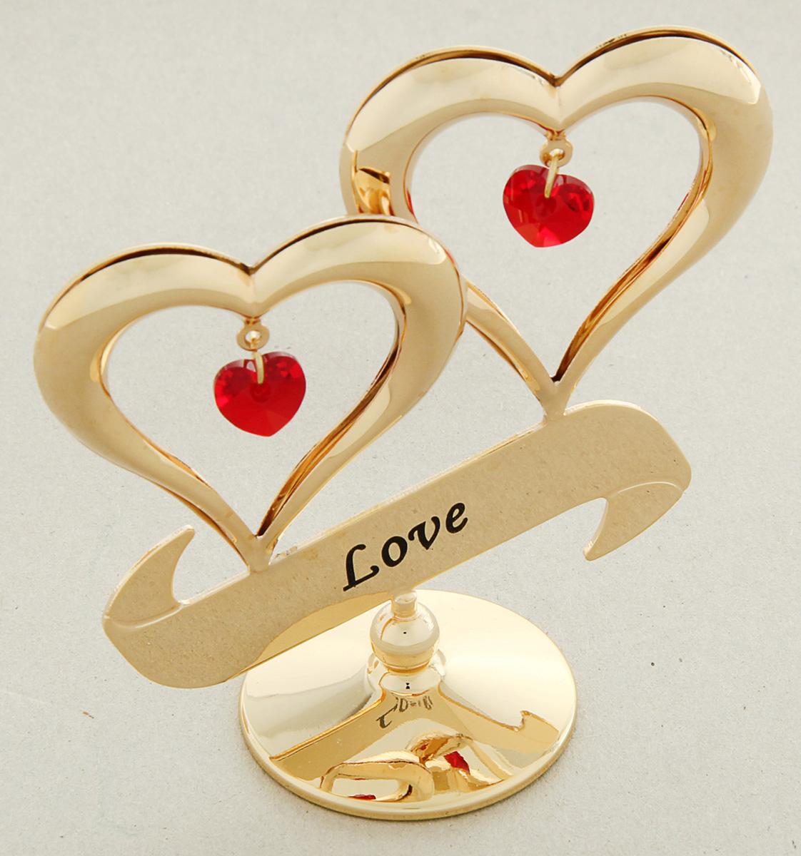 Миниатюра Swarovski Elements Два сердца, с кристаллами Сваровски, 4 х 7 х 4,3 см1005946Сувенирное сердце станет идеальным подарком близкому человеку и всем любителям эксклюзивных вещей ручной работы. Символ сердца связан с образом взаимной любви. Именно поэтому такой подарок можно подарить, чтобы выразить свои чувства любимому человеку.Сувенир украшен стразами Swarovski, которые были признаны специалистами лучшей имитацией бриллиантов. Свет, попадая на кристаллы Swarovski, разбивается на миллион радужных лучей. Это зрелище, бесспорно, оставляет яркое впечатление!