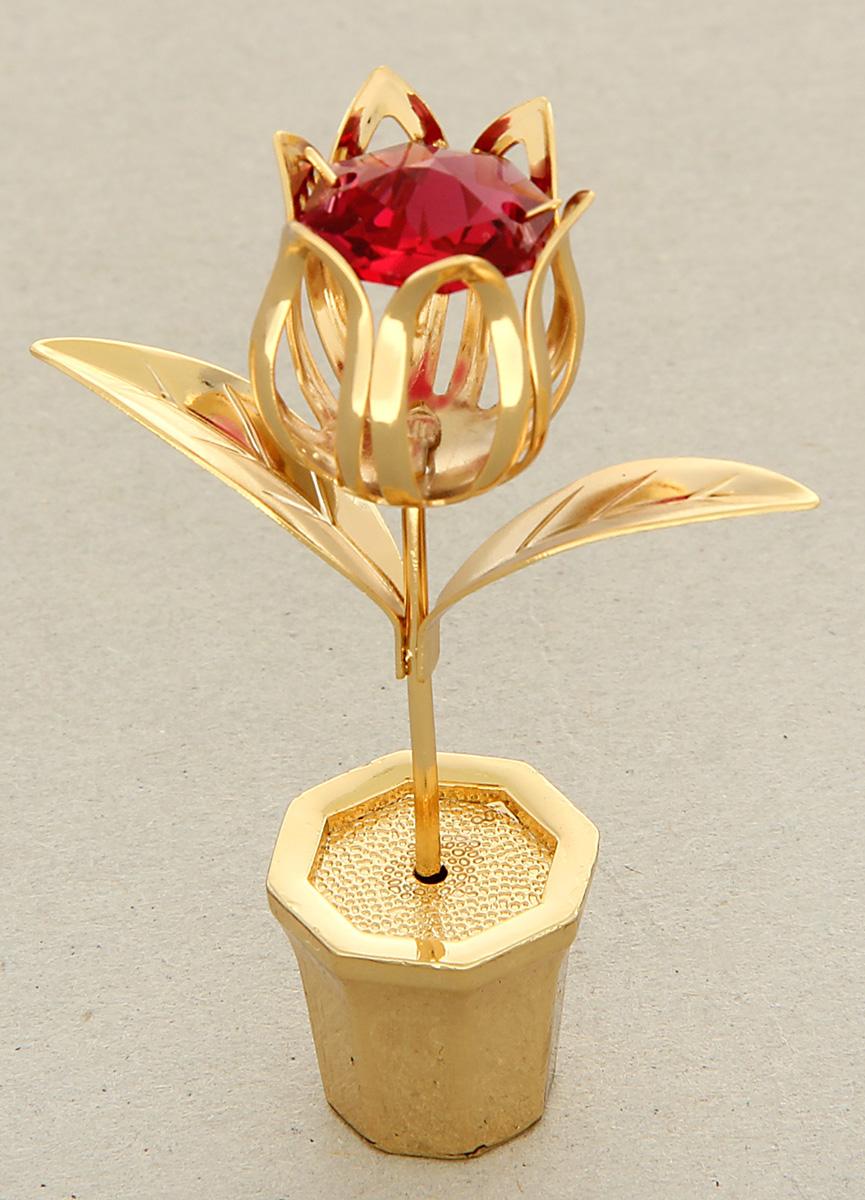 Миниатюра Swarovski Elements Цветочек Тюльпан, с кристаллом Сваровски, 6 х 5 х 3 см1037342Перед вами — сувенир в полном смысле этого слова. И главная его задача — хранить воспоминание о месте, где вы побывали, или о том человеке, который подарил данный предмет. Преподнесите эту вещь своему другу, и она станет достойным украшением его дома.