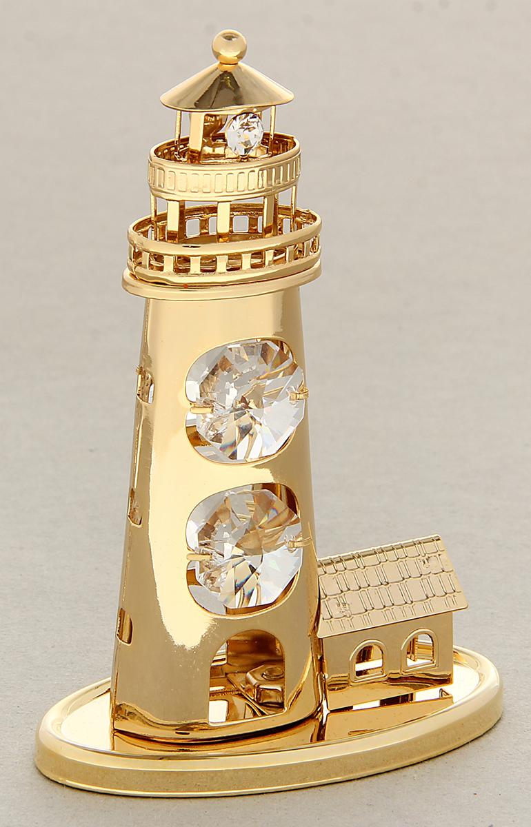 Миниатюра Swarovski Elements Маяк малый, с кристаллами Сваровски, 12 х 8 х 5 см1051506Сувенирный маяк станет идеальным подарком близкому человеку и всем любителям эксклюзивных вещей ручной работы. Маяк является положительным и светлым символом, указывающим верный путь среди бурных волн, острых скал и коварных течений.Сувенир украшен стразами Swarovski, которые были признаны специалистами лучшей имитацией бриллиантов. Свет, попадая на кристаллы Swarovski, разбивается на миллион радужных лучей. Это зрелище, бесспорно, оставляет яркое впечатление!