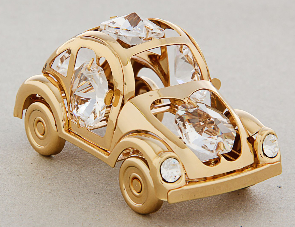 Миниатюра Swarovski Elements Автомобиль Жук, с кристаллами Сваровски, 6 х 3 х 3 см1267130Перед вами — сувенир в полном смысле этого слова. И главная его задача — хранить воспоминание о месте, где вы побывали, или о том человеке, который подарил данный предмет. Преподнесите эту вещь своему другу, и она станет достойным украшением его дома.