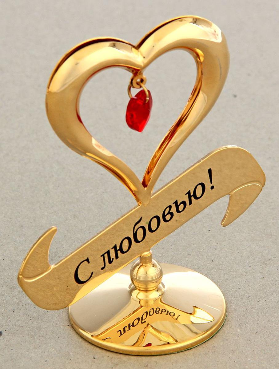 Миниатюра Swarovski Elements Cердце, на подставке, с кристаллом Сваровски, 7 х 4 х 8 см1332554Сувенирное сердце станет идеальным подарком близкому человеку и всем любителям эксклюзивных вещей ручной работы. Символ сердца связан с образом взаимной любви. Именно поэтому такой подарок можно подарить, чтобы выразить свои чувства любимому человеку.Сувенир украшен стразами Swarovski, которые были признаны специалистами лучшей имитацией бриллиантов. Свет, попадая на кристаллы Swarovski, разбивается на миллион радужных лучей. Это зрелище, бесспорно, оставляет яркое впечатление!