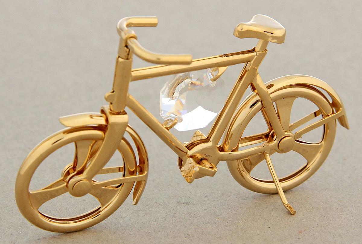 Миниатюра Swarovski Elements Велосипед, с кристаллом Сваровски, 8,5 х 5,5 х 4 см1332556Перед вами — сувенир в полном смысле этого слова. И главная его задача — хранить воспоминание о месте, где вы побывали, или о том человеке, который подарил данный предмет. Преподнесите эту вещь своему другу, и она станет достойным украшением его дома.