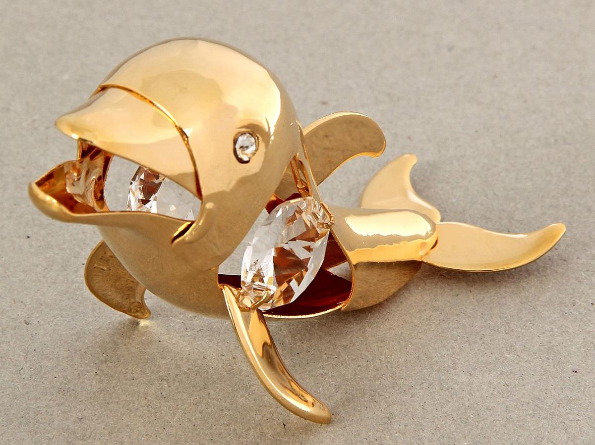 Миниатюра Swarovski Elements Дельфин, с кристаллами Сваровски, 8 х 3 х 5 см1386015Перед вами — сувенир в полном смысле этого слова. И главная его задача — хранить воспоминание о месте, где вы побывали, или о том человеке, который подарил данный предмет. Преподнесите эту вещь своему другу, и она станет достойным украшением его дома.