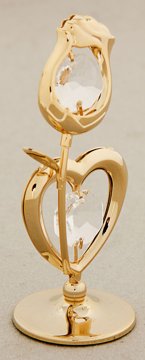 Миниатюра Сердце с цветком, с кристаллами Сваровски, 6,5 х 4,5 х 9 см1431461Сувенирное сердце станет идеальным подарком близкому человеку и всем любителям эксклюзивных вещей ручной работы. Символ сердца связан с образом взаимной любви. Именно поэтому такой подарок можно подарить, чтобы выразить свои чувства любимому человеку.Сувенир украшен стразами Swarovski, которые были признаны специалистами лучшей имитацией бриллиантов. Свет, попадая на кристаллы Swarovski, разбивается на миллион радужных лучей. Это зрелище, бесспорно, оставляет яркое впечатление!
