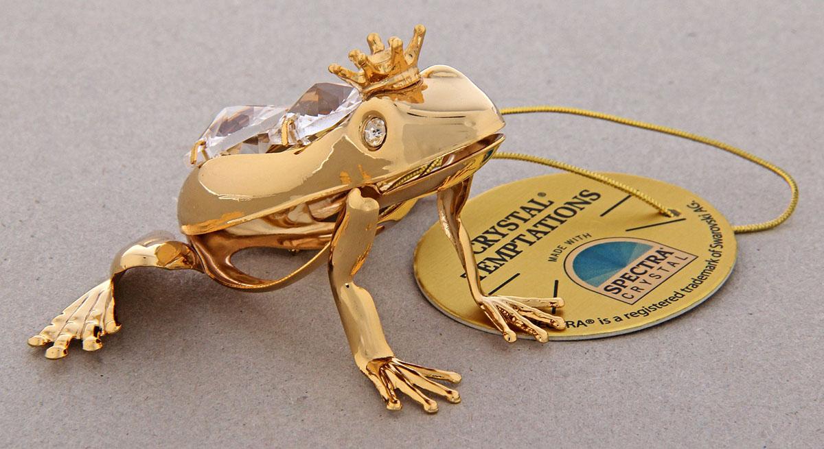 Миниатюра Swarovski Elements Лягушка, с кристаллами Сваровски, 7 х 3 х 6 см165243Сувенирная лягушка станет идеальным подарком близкому человеку и всем любителям эксклюзивных вещей ручной работы. Это символ перемен к лучшему, преодоления любых препятствий и жизненных трудностей. Кроме того, по символике Фэн-шуй лягушка является символом богатства, приносит в дом процветание и способствует привлечению денежной энергии.Сувенир украшен стразами Swarovski, которые были признаны специалистами лучшей имитацией бриллиантов. Свет, попадая на кристаллы Swarovski, разбивается на миллион радужных лучей. Это зрелище, бесспорно, оставляет яркое впечатление!