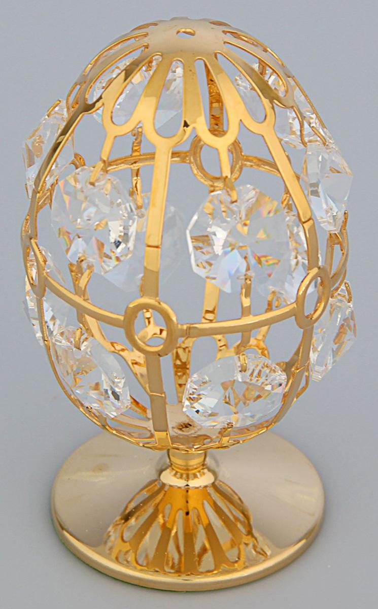 Миниатюра Swarovski Elements Яйцо, на подставке, с кристаллами Сваровски, 4,5 х 4,5 х 8 см1781475Перед вами — сувенир в полном смысле этого слова. И главная его задача — хранить воспоминание о месте, где вы побывали, или о том человеке, который подарил данный предмет. Преподнесите эту вещь своему другу, и она станет достойным украшением его дома.