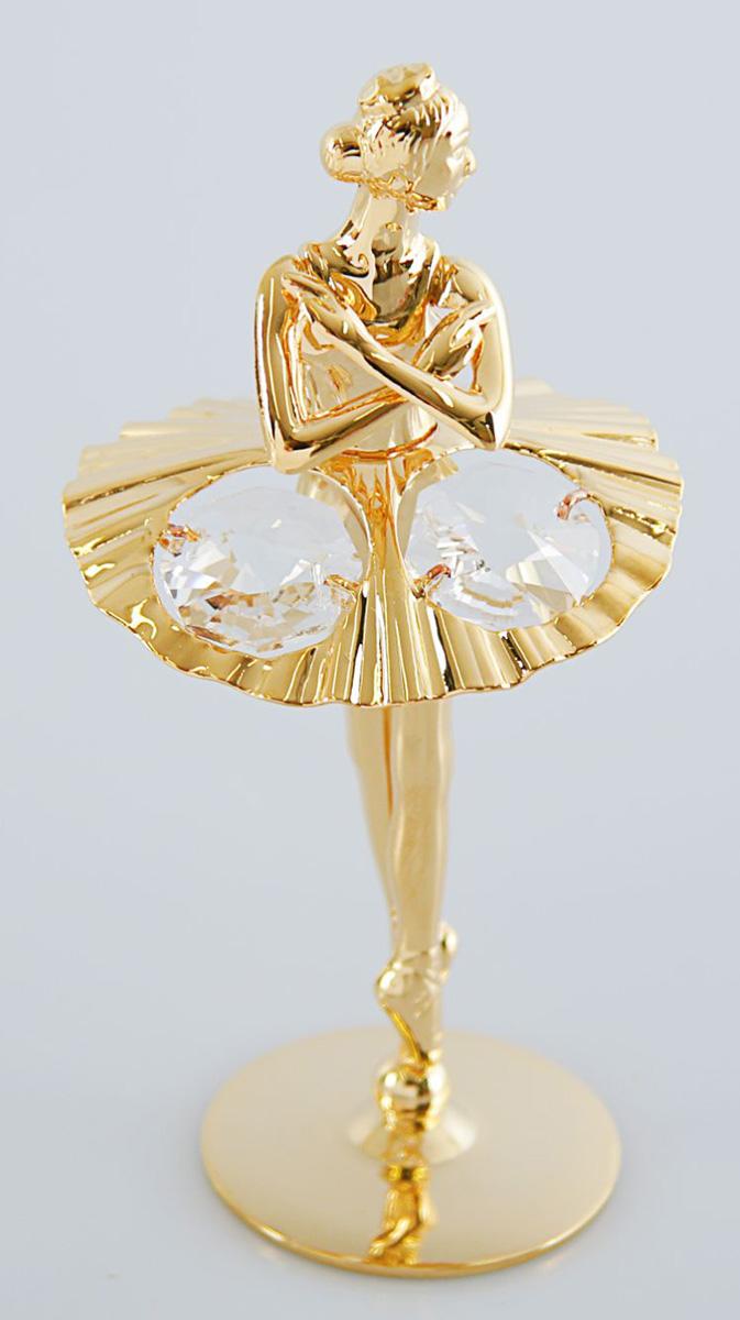 Миниатюра Балерина, с кристаллами Сваровски, 4,5 х 4 х 9 см1903077Перед вами — сувенир в полном смысле этого слова. И главная его задача — хранить воспоминание о месте, где вы побывали, или о том человеке, который подарил данный предмет. Преподнесите эту вещь своему другу, и она станет достойным украшением его дома.