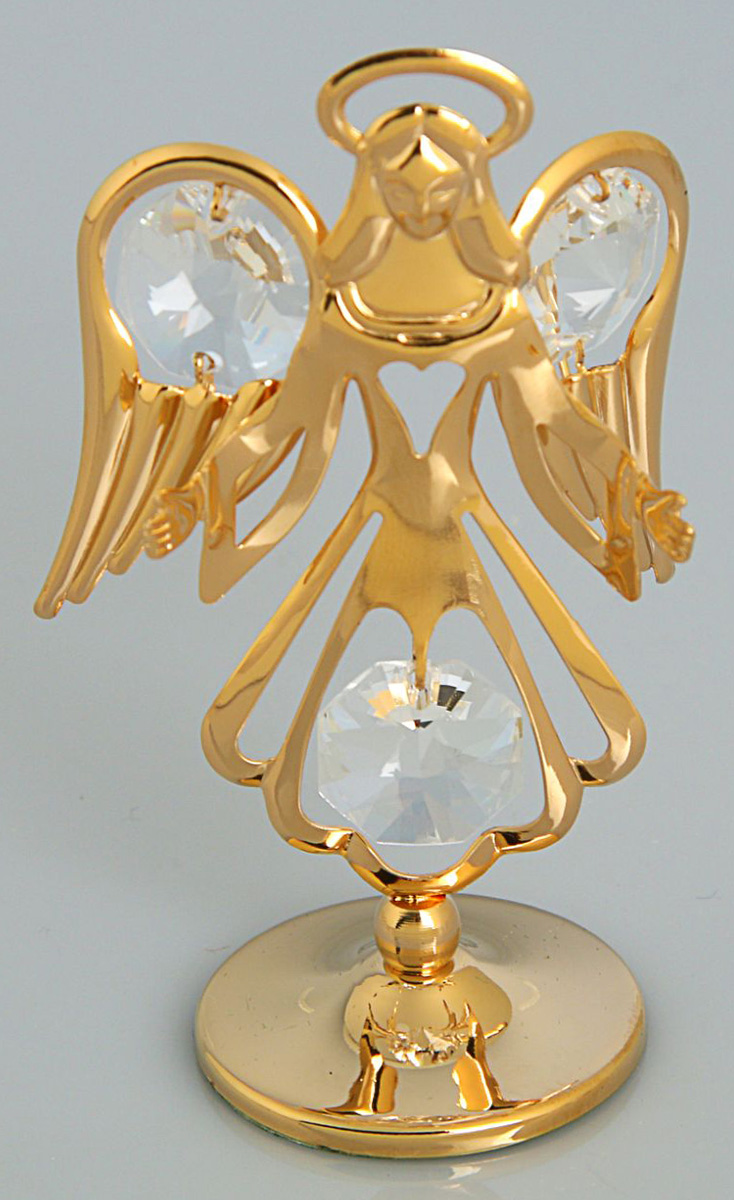 Миниатюра Ангел, с кристаллами Сваровски, 3 х 5 х 8 см. 19250191925019Перед вами — сувенир в полном смысле этого слова. И главная его задача — хранить воспоминание о месте, где вы побывали, или о том человеке, который подарил данный предмет. Преподнесите эту вещь своему другу, и она станет достойным украшением его дома.