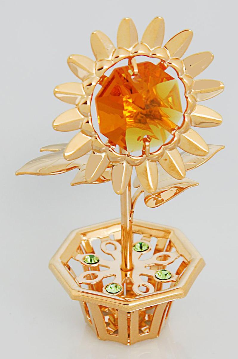 Миниатюра Цветок, с кристаллами Сваровски, 3 х 5 х 8 см. 19250231925023Перед вами — сувенир в полном смысле этого слова. И главная его задача — хранить воспоминание о месте, где вы побывали, или о том человеке, который подарил данный предмет. Преподнесите эту вещь своему другу, и она станет достойным украшением его дома.
