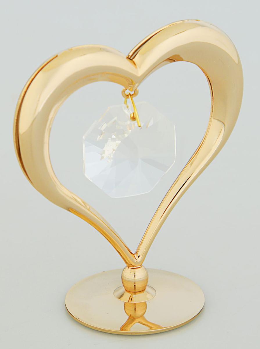 Миниатюра Swarovski Elements Сердце, на подставке, с кристаллами Сваровски, 6 х 3,2 х 6 см2059722Перед вами — сувенир в полном смысле этого слова. И главная его задача — хранить воспоминание о месте, где вы побывали, или о том человеке, который подарил данный предмет. Преподнесите эту вещь своему другу, и она станет достойным украшением его дома.