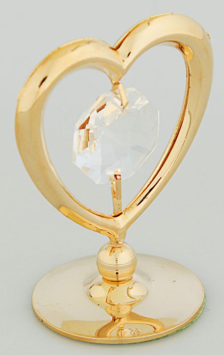 Миниатюра Swarovski Elements Сердце, на подставке, с кристаллом Сваровски, 3,5 х 2,5 х 4 см2059724Перед вами — сувенир в полном смысле этого слова. И главная его задача — хранить воспоминание о месте, где вы побывали, или о том человеке, который подарил данный предмет. Преподнесите эту вещь своему другу, и она станет достойным украшением его дома.
